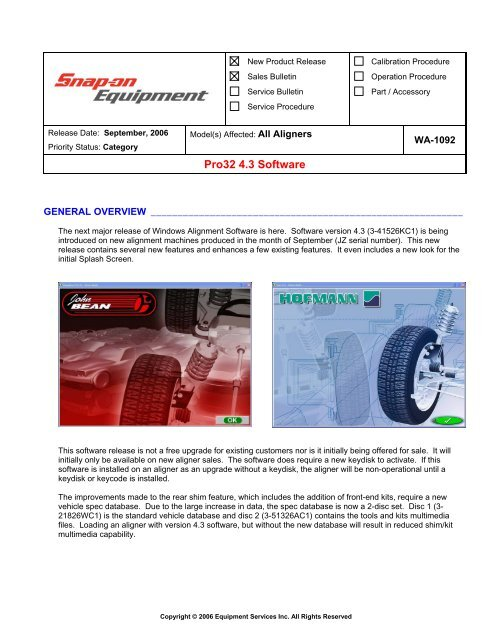 Pro32 4 3 Software - Snap-on Equipment