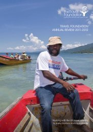 TRAVEL FOUNDATION ANNUAL REVIEW 2011-2012 - The Travel ...