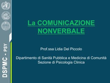 lezione III Comunicazione non verbale (pdf, it, 1492