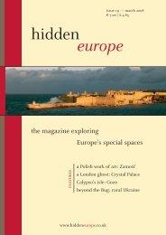 hidden europe 19 (March 2008): editorial