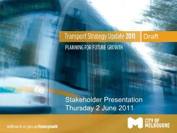 Stakeholder Presentation Thursday 2 June 2011 Draft