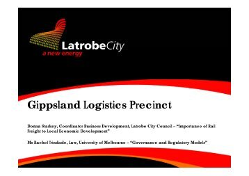 Gippsland Logistics Precinct - University of Melbourne