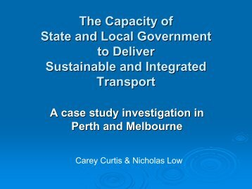 The Capacity of State and Local Government to Deliver Sustainable ...