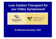 Low Carbon Transport for our Cities Symposium