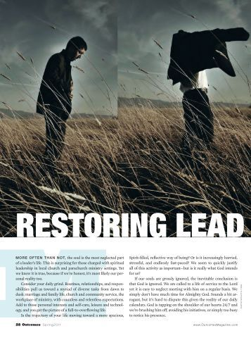 Restoring Leaders' Souls - Leadership Transformations