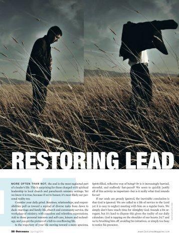 Restoring Leaders' Souls - Leadership Transformations