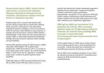 Neuromyelitis optica (NMO), selektif olarak optik sinirler ve spinal ...