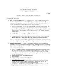 Student Attendance/Truancy Procedures - Cedarburg School District