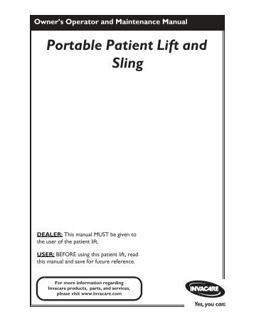 Portable Patient Lift and Sling - Discovermymobility.com