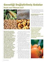 Genetiği Değiştirilmiş Gıdalar - Düzen Laboratuvarlar Grubu
