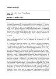 Alain Guiraudie - Jean-Pierre Rehm entretien réalisé le 20 octobre ...