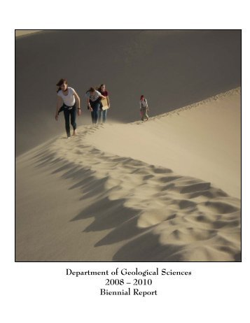 2008-2010 Department Annual Report - Department of Earth ...