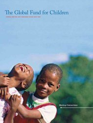 2005-2006 Annual Report - Global Fund for Children