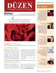 BULTEN 05.2007.indd - Düzen Laboratuvarlar Grubu