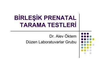 birleşik prenatal tarama testleri - Düzen Laboratuvarlar Grubu