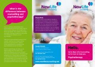 What is Psychotherapy? - New Life Counselling