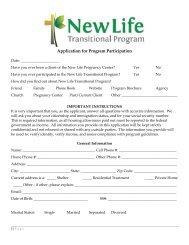 Application for Program Participation - Arizona Baptist Children's ...