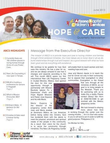 June 2013 Newsletter - Abcs.org