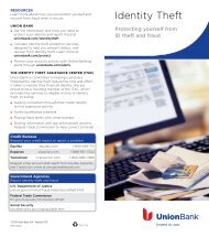 Identity Theft - Union Bank