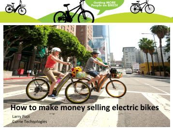 How to make money selling electric bikes - Currie Technologies