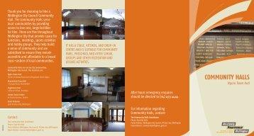 Ngaio Town Hall brochure - Wellington City Council