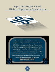 Read our Ministry Engagement Opportunities - Sugar Creek Baptist ...