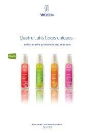 Quatre Laits Corps uniques – - Weleda