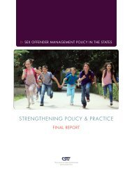 Strengthening Policy & Practice - Center for Sex Offender ...