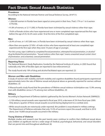 Fact Sheet:: Sexual Assault Statistics - Florida Council Against ...