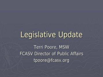 FCASV Legislative Update - Florida Council Against Sexual Violence