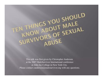 10 Things You Should Know About Male Survivors of Sexual Abuse ...