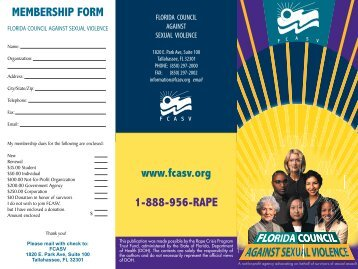 Mail-In Application - Florida Council Against Sexual Violence