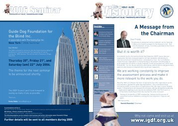 July 2005 Visionary - International Guide Dog Federation