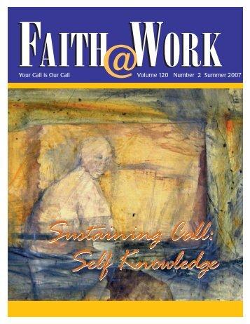 Faith@Work Summer 2007 Sustaining Call Self Knowledge - Lumunos
