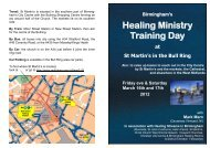 Healing Ministry Training Day - Riverside Church