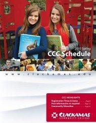 Schedule of Classes - Clackamas Community College