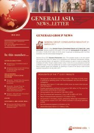 Newsletter for May 2011 - Generali Asia