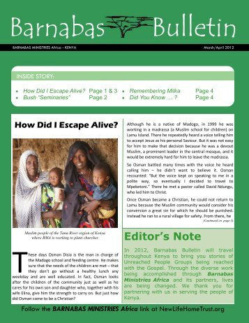 Find out in March 2012 Barnabas Bulletin - New Life Home Trust