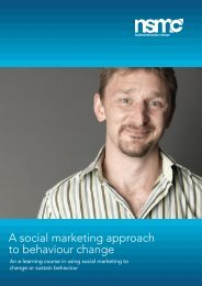 A social marketing approach to behaviour change - National Social ...