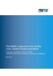 joint response - National Social Marketing Centre