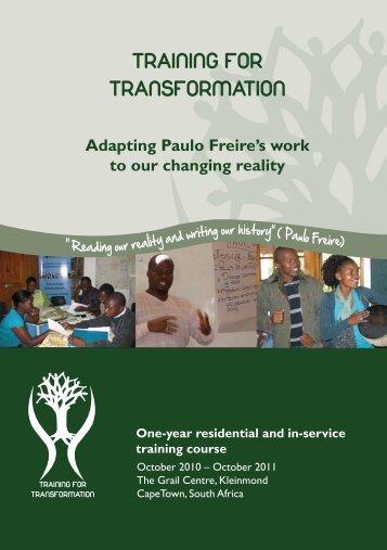 1 TRAINING FOR TRANSFORMATION - Grail Programmes