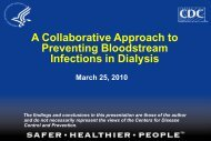 A Collaborative Approach to Prevention Bloodstream Infections in ...
