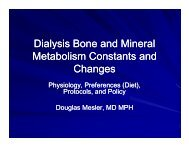 Dialysis Bone and Mineral Metabolism Constants and Changes