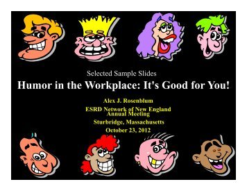 Humor in the Workplace: It's Good for You! - ESRD Network of New ...