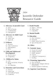 Resource Guide TOC for web site.qxd - National Juvenile Defender ...