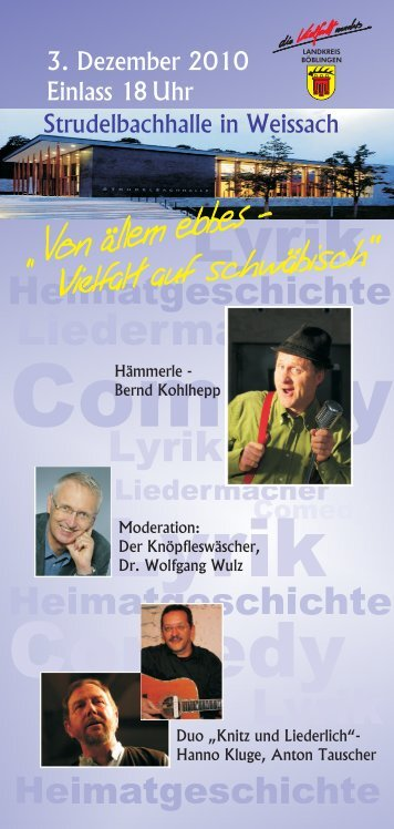 Flyer von ällem ebbes - Weissach