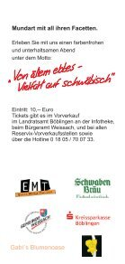 Flyer von ällem ebbes - Weissach - Seite 2