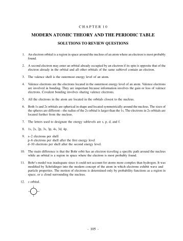 Section 53 and 54 name section title the periodic table period modern atomic theory and the periodic table urtaz Gallery