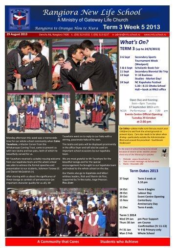 2013 Term 3 Week 5 - rnls.school.nz