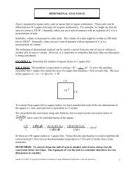 DIMENSIONAL ANALYSIS #2 - Faculty.chemeketa.edu